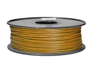Hobbyking 3D-Drucker Filament 1.75mm PLA 1KG Spool (Metallic Gold)