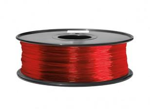 Hobbyking 3D-Drucker Filament 1.75mm ABS 1KG Spool (Transparent Red)