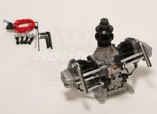 ASP FT160AR Zweizylinder Glow Motor