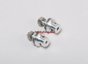 Prop-Adapter w / Stahlmutter 1 / 4x28-3.2mm Welle (Madenschraube Type)