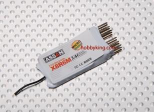 X8 R6M 6Ch Micro 2,4-GHz-Empfänger (Short-Antenne)