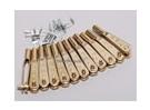 Zwölf 2-56 Gold N-Clevises