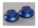 Blau Aluminium Radkappe (23mm Hex-Adapter)
