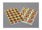Self Adhesive Decal Sheet - Nummer Kit Maßstab 1:10 (rot)