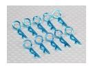 Klein-Ring 45 Deg Body Clips (blau) (10 Stück)