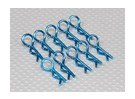 Heavy Duty 45 Deg Body Clips (blau) (10 Stück)