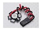 Super Bright 3 Watt Rote LED-Lampe mit Aluminium-Kühlkörper