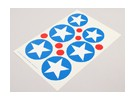 Skalieren Nationale Air Force Insignia Aufkleber Blatt - USA (Typ B)