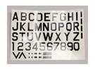 Buchstaben / Symbole Schwarz-Silber Luftwaffe Stil (Med) Style 1
