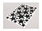 Stern-Schwarz / Weiß Verschiedene Größen Decal Sheet 425mmx300mm