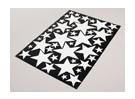 Stern-Weiß / Schwarz Verschiedene Größen Decal Sheet 425mmx300mm