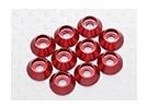 Sockethead Waschmaschine eloxiertes Aluminium M3 (rot) (10 Stück)