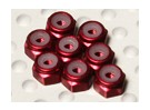 Red eloxiertes Aluminium M2 Nylock Muttern (8pcs)