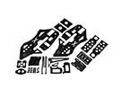 RJX X-TRON 500 komplette Carbon Rahmen Set # X500-61082Set