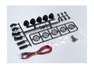 1/10 Crawler LED Light Bar Set (Schwarz)