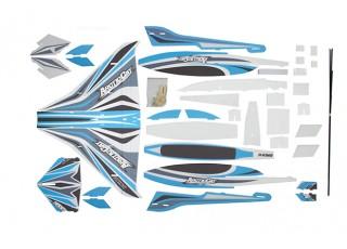 H-King Arctic Cat Water Plane - Glue-N-Go - Foamboard PP 820mm Blue (Kit) - kit