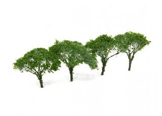 HobbyKing™ 65mm Dark Green Scenic Wire Model Trees (4 pcs)