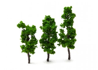 HobbyKing™ 70mm Scenic Wire Model Trees  (3 pcs)