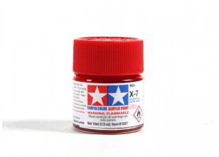 Tamiya X-7 Red Acrylic Paint (10ml)