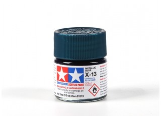 Tamiya X-13 Metallic Blue Acrylic Paint (10ml)