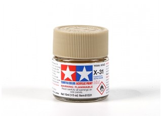 Tamiya X-31 Titanium Gold Acrylic Paint (10ml)