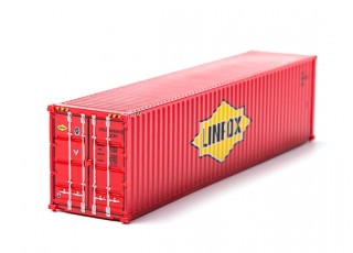 HO Scale 40ft Shipping Container (LINFOX)) rear view