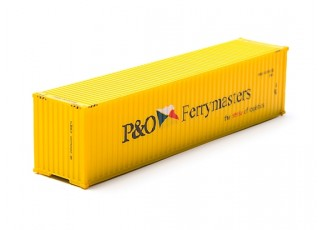 HO Scale 40ft Shipping Container (P&O Ferrymasters) front view