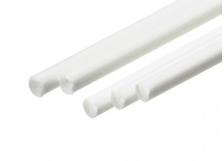 ABS Round Rod 2.0mm x 500mm White (Qty 5)