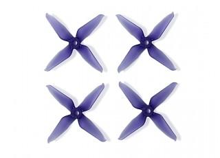Team RaceKraft 3041 Q4CS 4 Blade Props - Clear Purple