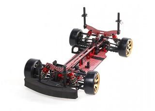 Blaze DFR 1/10 Scale Carbon Fiber Drift Car with Unpainted Bodyshell ARTR (Red)