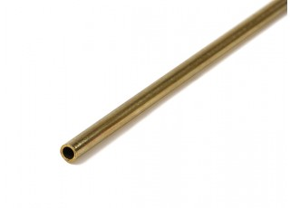 K&S Precision Metal Brass Round Stock Tube 3mm OD x 0.45mm x 1000mm (Qty 1)