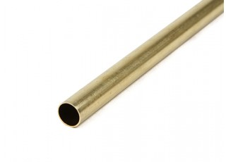 K&S Precision Metals Brass Round Stock Tube 11mm OD x 0.45mm x 1000mm (Qty 1)