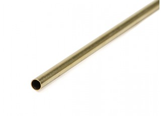 K&S Precision Metals Brass Round Thin Wall Tube 3.5mm OD x  0.225mm x 1000mm (Qty 1)