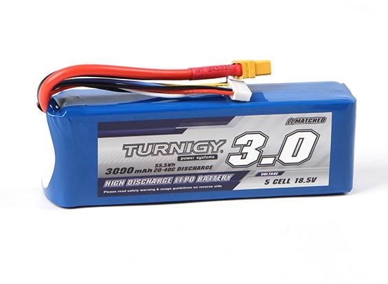 Turnigy 3000mAh 5S 20C Lipo Pack With XT60