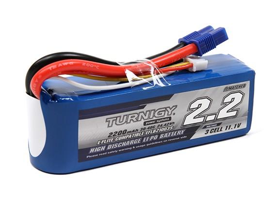 Turnigy 2200mAh 3S 30C Lipo Pack w/EC3 plug (E-Flite EFLB21003S Compatible)