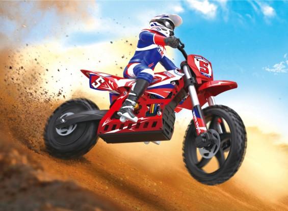 Súper jinete SR5 1/4 Escala RC del motocrós de la bici (RTR) (enchufe UK)