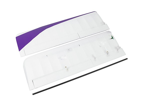 Durafly® ™  Tundra - Main Wing Set w/Control Horns (Purple/Gold)