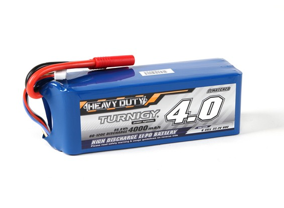 Turnigy Heavy Duty 4000mAh 6S 60C Lipoly Battery Pack