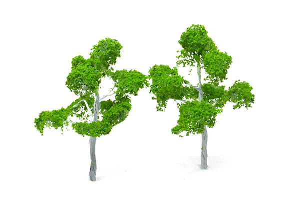 HobbyKing™ 120mm Scenic Wire Model Trees (2 pcs)