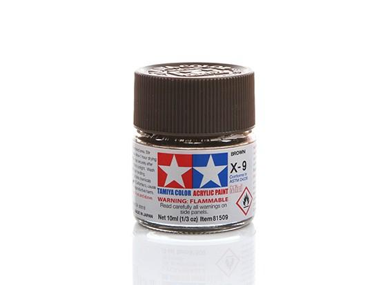 Tamiya X-9 Gloss Brown Mini Acrylic Paint (10ml)