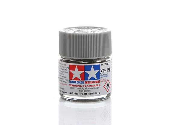 Tamiya XF-19 Flat Sky Grey Mini Acrylic Paint (10ml)