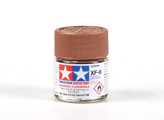 Tamiya XF-6 Flat Copper Acrylic Paint (10ml)