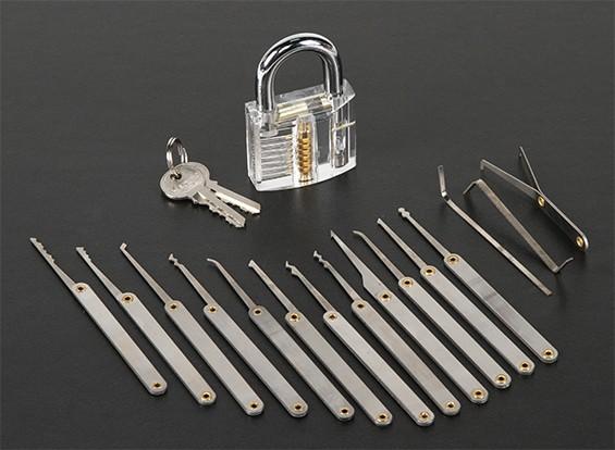 Transparent Practice Padlock (Stainless Steel Version)