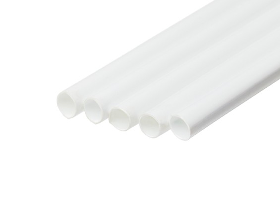 ABS Round Tube 8.0mm OD x 500mm White (Qty 5)