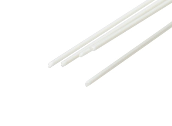 ABS Round Rod 0.5mm x 500mm White (Qty 5)