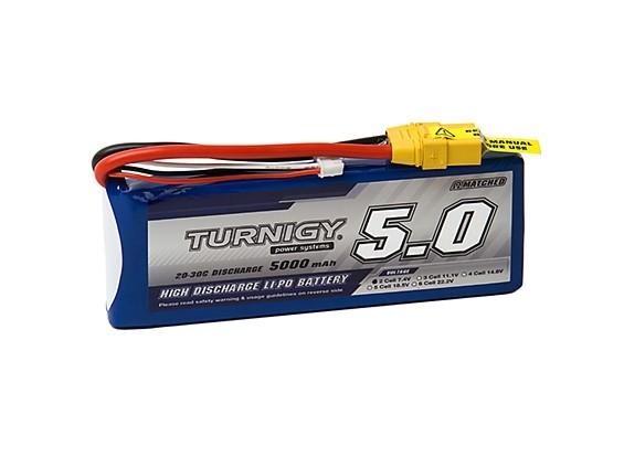 Turnigy 5000mAh 2S 20C Lipo Pack w/XT-90