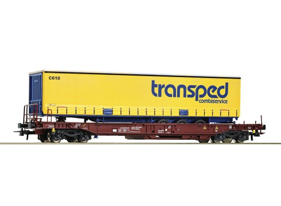 Roco HO Double Bogie Standard Pocket Wagon FS (transped)