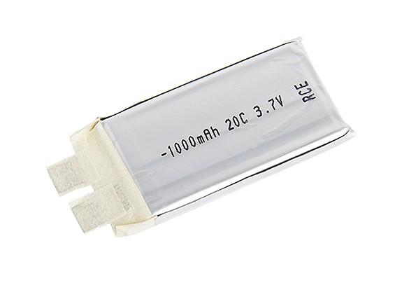 Turnigy 1000mAh 20C Lipo 1S (Single Cell)
