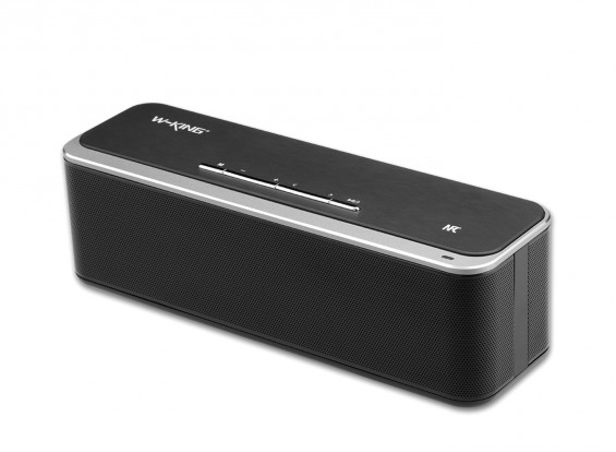 W-King X8 Portable Intelligent Bluetooth Speaker with Alloy case Support Calls/ AUX- BLACK