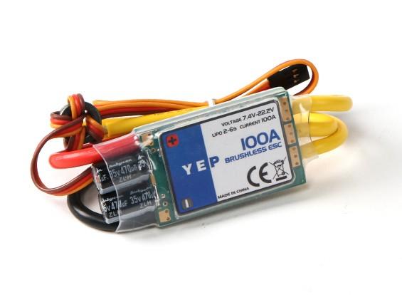 Hobbyking YEP 100A (2 ~ 6S) regulador de la velocidad sin escobillas SBEC